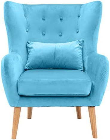 Reviewed: Critter Sitters CSVELCHR-Teal Wingback Accent Chair