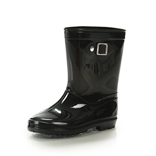 - Silky Toes Boys Girls Rain Boots for Kids, Waterproof Toddler Little/Big Kids Classic Wellies (10 M US Toddler, Black)