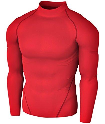 TMT01RR XL Tesla New Men's Compression Under Base Layer Gear Armour Wear Long Sleeve - T