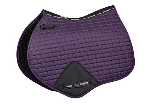 Weatherbeeta Prime Jump Shaped Saddle Pad Purple Penant Full