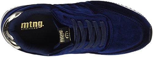 Stela Azul Mujer Mirror Oro Velvet Zapatillas MTNG Marino para SIqndd6