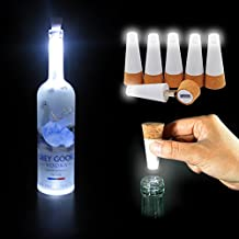 6 Packs of Wine Bottle Lights, HOTOR LED Cork Lights for Bottle, Rechargeable USB lights for DIY, Party, Decor, Christmas, Halloween, Wedding