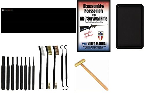 Ultimate Arms Gear AGI DVD Course AR-7 AR7 Survival Rifle Gunsmith & Armorer's Cleaning Bench Gun Mat + Punch Tool Set Kit + Hammer + Brush & Pick Tool Set + Magnetic Parts Tray by Ultimate Arms Gear