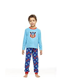 Boys 2-Piece Cotton Pajama Set, Long-Sleeve Top and Jogger Pants, by Jellifish Kids