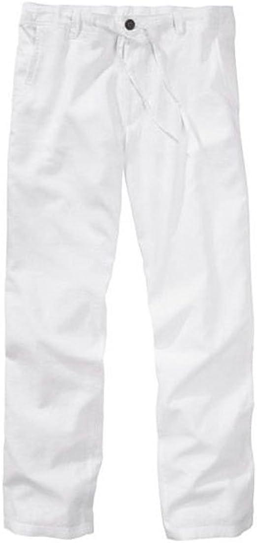 Livergy été pantalon homme taille 50 (blanc)