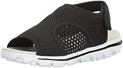 Propet Women's TravelActiv Ss Sandal, Black, 6 2A US