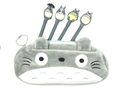 My Neighbor Totoro Pen Bag Pencil Case with 4 Totoro Pens