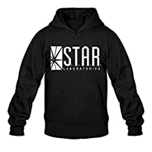 ERICP Men's Star Labs - The Flash Captain TV Laboratories Labs Logo Comics DT Hoodie