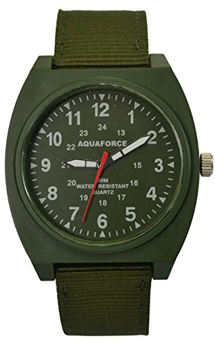 Aqua Force Analog Field Watch with 40mm OD Face
