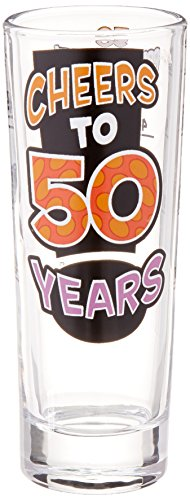 Laid Back C527V Cheers to 50 Years Shot Glass, -