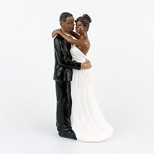 - Cake Wedding Topper, African American Wedding Bride and Groom Cake Topper Figurine, Resin Wedding Anniversary Gift, 6.30 inch