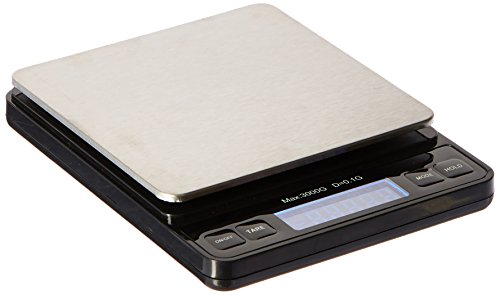 Weighmax Duo Series W-7800 High Precision 0.1g/0.01oz 3000g Digital Pro Pocket Scale, serving as kitchen scale and postal scale