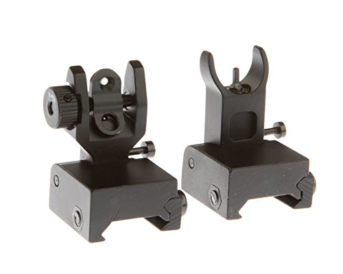 Flip Up Battle Sights Co-Witness Back Up Iron Sights BUIS - Front & Rear