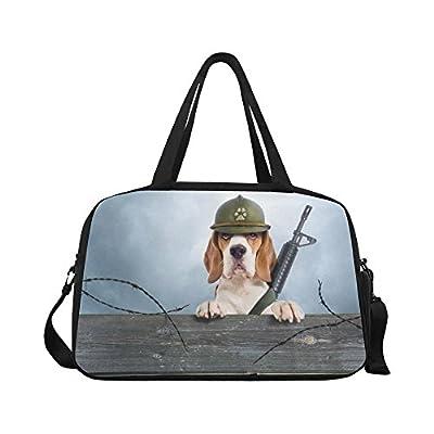32132d478a38 well-wreapped InterestPrint Funny Dog Duffel Bag Travel Tote Bag Handbag  Luggage
