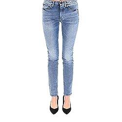 Saint Laurent Women S 553356y994t4033 Blue Cotton Jeans