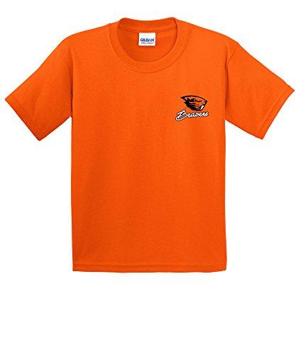 NCAA Oregon State Beavers Girls Cheer Loud Short Sleeve Cotton T-Shirt, Youth Medium,Orange