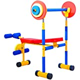 Kinbor Fun and Fitness Exercise Equipment for Kids Children Weight Bench Set,Birthday Gifts