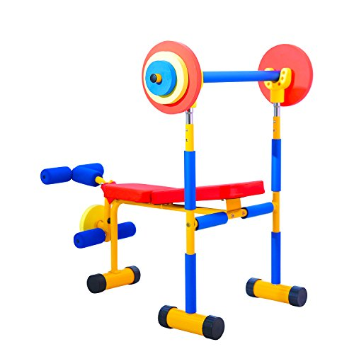 Kinbor Fun and Fitness Exercise Equipment for Kids Children Weight Bench Set,Birthday Gifts (Best Exercise For Kids)