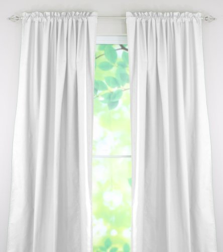 Chooty Rod Pocket Curtain Panel, 54 by 108-Inch, Duck White