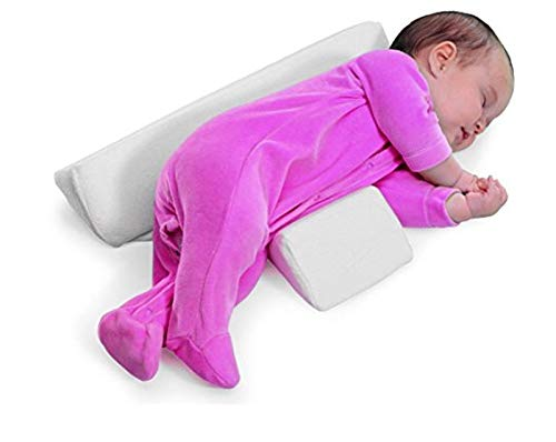 SaferSleeper Baby Side Sleeping Pillow, Washable Side Sleep Pillow for Newborn Baby