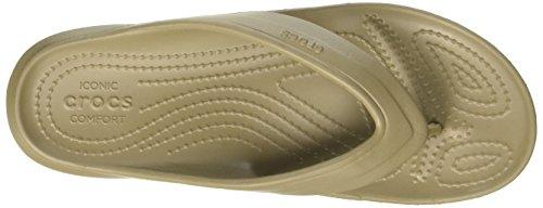 Crocs Classic Flip Kha, Pantuflas Unisex Adulto Marrone (Khaki)
