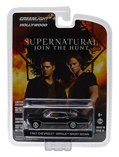 1967 CHEVROLET IMPALA SPORT SEDAN from the television show SUPERNATURAL Greenlight Collectibles 1:64 Scale Hollywood Series 6 Die Cast Vehicle by GL - 1967 Calendar