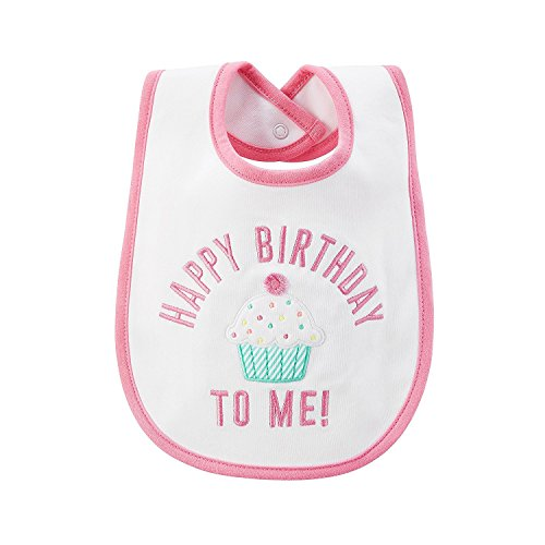 Carter's Baby Girls' Happy Birthday To Me! Bib (1st Birthday Bib)