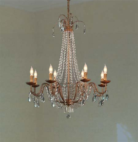 Swarovski Crystal Trimmed Chandelier! Empire Crystal Chandelier Chandeliers Lighting H38″ X W30″