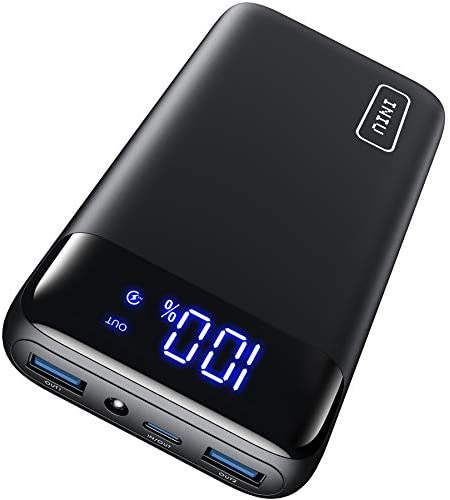 INIU Portable Charger, 18W PD3.0 QC4.0 Fast Charging LED Display 20000mAh Power Bank, Tri-Outputs Battery Pack Compatible with iPhone 12 11 XS X 8 Samsung S20 Google LG iPad Tablet and so forth. [2021 Version]