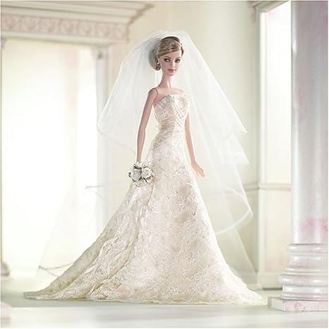 Carolina Herrera Wedding Dress.Barbie Carolina Herrera Designer Bride Gold Label