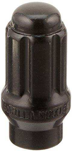 (Gorilla Automotive 21134ETBC Black 12mm x 1.50 Thread Size Chrome Finish Small Diameter 6-Lug Kit, (Pack of 24))