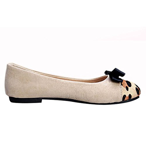Dear Time Women Slip On Bowknot Flats Shoe White AwdubUm