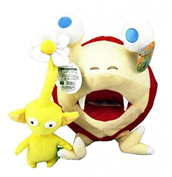 SUPER MARIO NINTENDO - 2 PELUCHES PIKMIN AMARILLO & BULBORB / 2 PLUSH TOYS SET