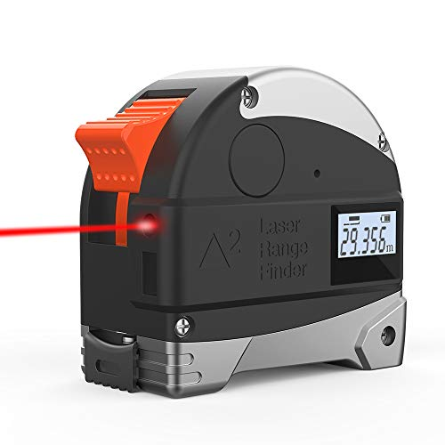 Ameter Laser Tape Measure,2 in 1 USB Charging Digital Tape meaure with 5m...