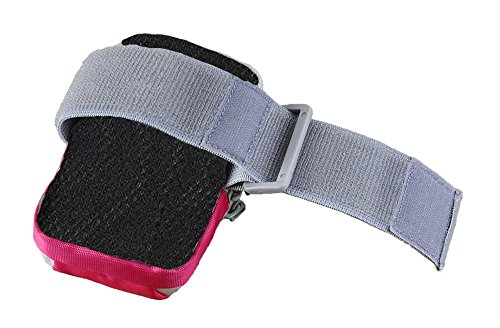 Tsmine Alcatel One Touch Pop 2 4.5 Inch Universal Sports Gym Armband Wrist Bag Case - Runner Jog Outdoors Sports Gym Keys Money Stylish Pouch Armband Wrist Bag Case, Hot Pink