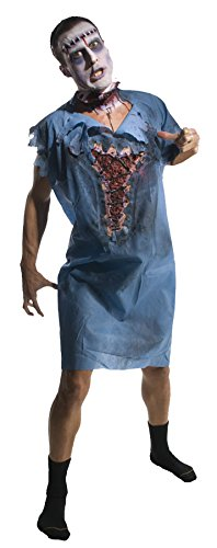 UHC Men's Zombie Bloody Patient Gown Horror Theme Adult Halloween Costume, OS