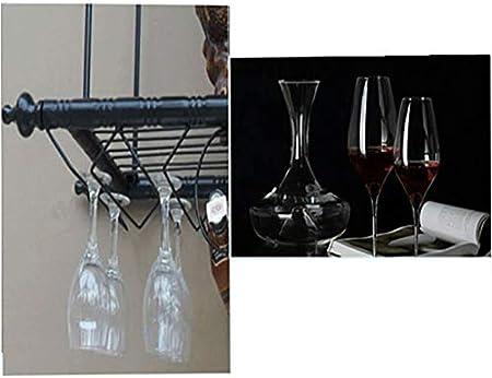 Estantería de vino Colgando estante del vino del sostenedor de taza, Europeo cáliz titular estante del vino del estante del vino invertida estante de la barra base de vino, L100 * W30 cm de cocina, ba