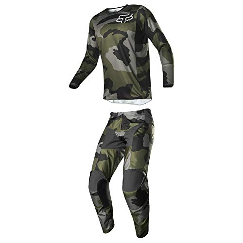 Fox Racing 2019 Men's 180 PRZM Special Edition Camo Jersey Medium and Pants 32 Combo ()