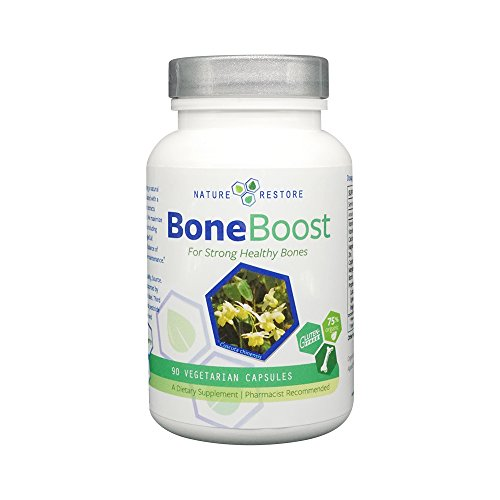 Nature Restore BoneBoost, Osteoporosis Supplement for Healthy Bone Density, 60 capsules, Manufactured in USA, Non-GMO & Gluten Free, Better DEXA results in 3 months