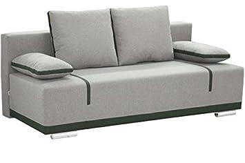 Vito Gross Grau Couch Mit Speicher Kissen Schlafbereich Wohnzimmer Bro Mbel Sofas