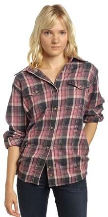 Carhartt Women's Hamilton Flannel Shirt Midweight Button Front,Dusty Pink (Closeout),