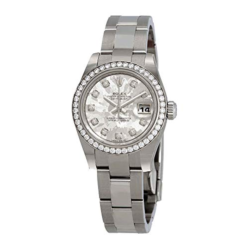 - Rolex Lady Datejust Automatic Pink Crystal Dial Steel and 18kt White Gold Diamond Ladies Watch 179384GCDO