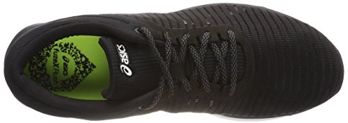 Asics Rush Black White 9001 Para Adapt de FuzeX Zapatillas Negro Running Dark Grey Mujer rax65nqrwB