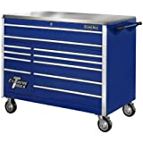 Extreme Tools EX5511RCBL 11-Drawer Roller Cabinet with Security Drawer and Ball Bearing Slides, 55-Inch, Blue High Gloss Powder Coat