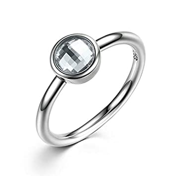 FidgetGear S925 Solid Sterling Silver Rings Statement Series A Fashion Jewelry Beads Charms Ring Size with 7 7191