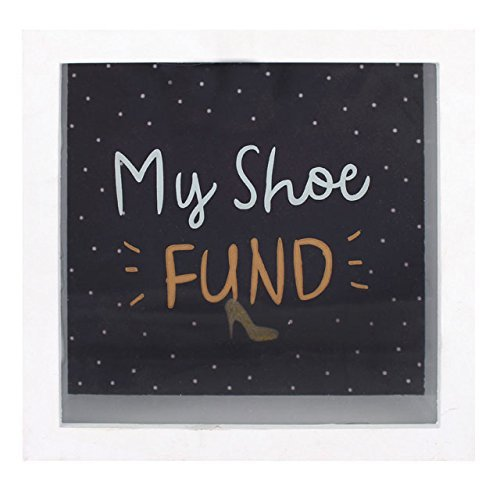 My Shoe fund money box money box - Glass front by Jones Home and Gift - Shoe Fund Money Box