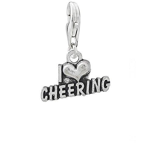Sexy paillettes Femme I Love réconfortants Clip sur pendentif Charm pour bracelet ou collier
