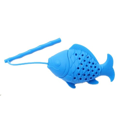Tea filter - SODIAL(R)Home Silicone Fish Tea Leaf Infuser Spice Herbal Strainer Filter Diffuser SODIAL (R) TRTA11A