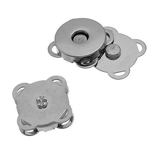 Waygo 10set argento Sew in chiusura magnetica borsa 19mm ideali per cucito, artigianato, abbigliamento, borsa, scrapbooking, e più