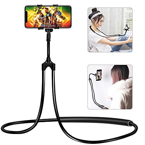 Neck Phone (Neck Phone Holder, Lazy Bracket - Universal Mobile Phone Stand, DIY Free Rotating Mount with Multiple Function for iPhone Samsung and More Smartphone)